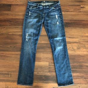 7 for all mankind Josefina Jeans Distressed 26